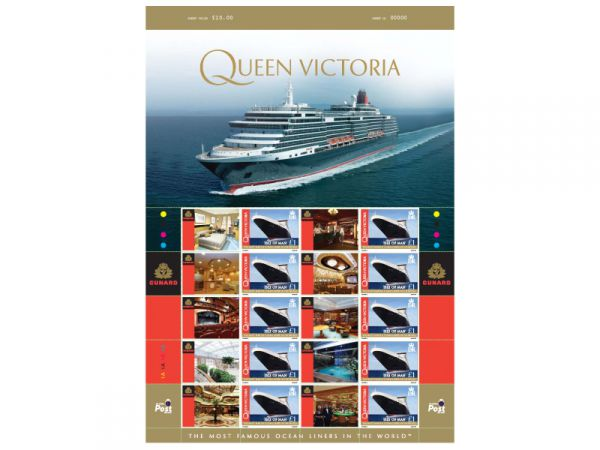 Queen Mary 2 Cunard Ocean Liners Special 'Smiler' Sheet