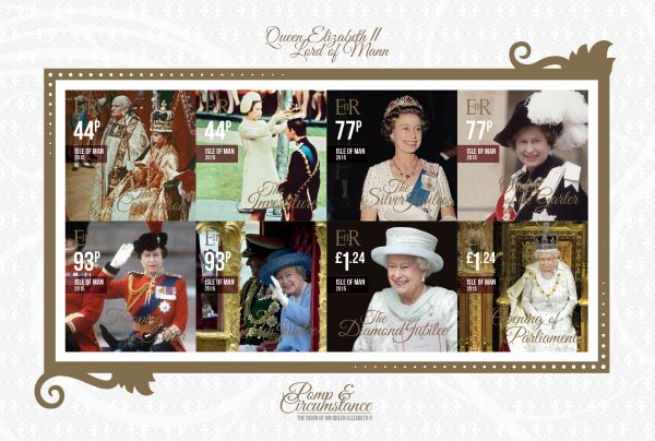Pomp & Circumstance The Reign of HM Queen Elizabeth II Self-Adhesive Stamp Pane CTO