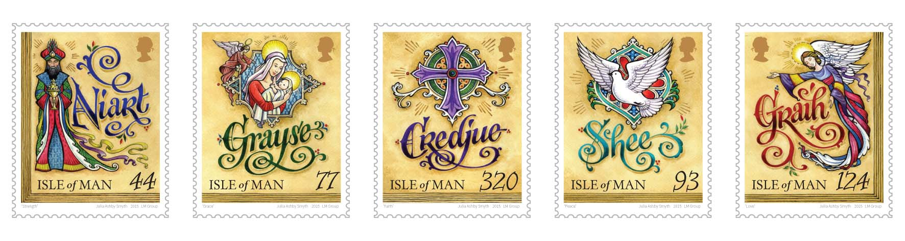 Christmas Stamps 2019.Manx Prayer Christmas Stamps Isle Of Man Post Office