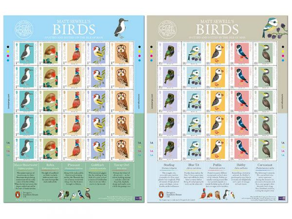 Matt Sewell's Birds Mint IOM/UK Value Sheet