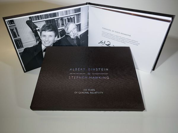 100 Years of General Relativity Eddie Redmayne Signed Limited Edition Book