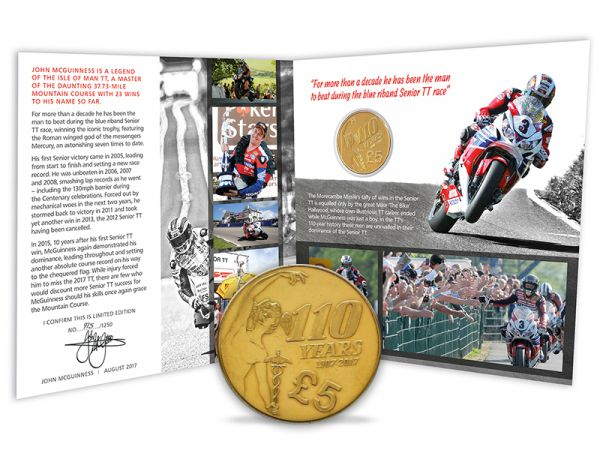 2017 Signed John McGuinness Limited Edition TT £5 Pound Gift Pack