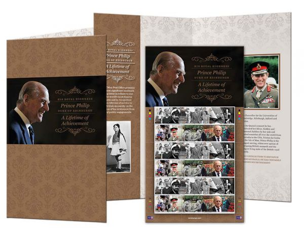 HRH Prince Philip - A Lifetime of Achievement Stamp Sheet and Folder (CTO)