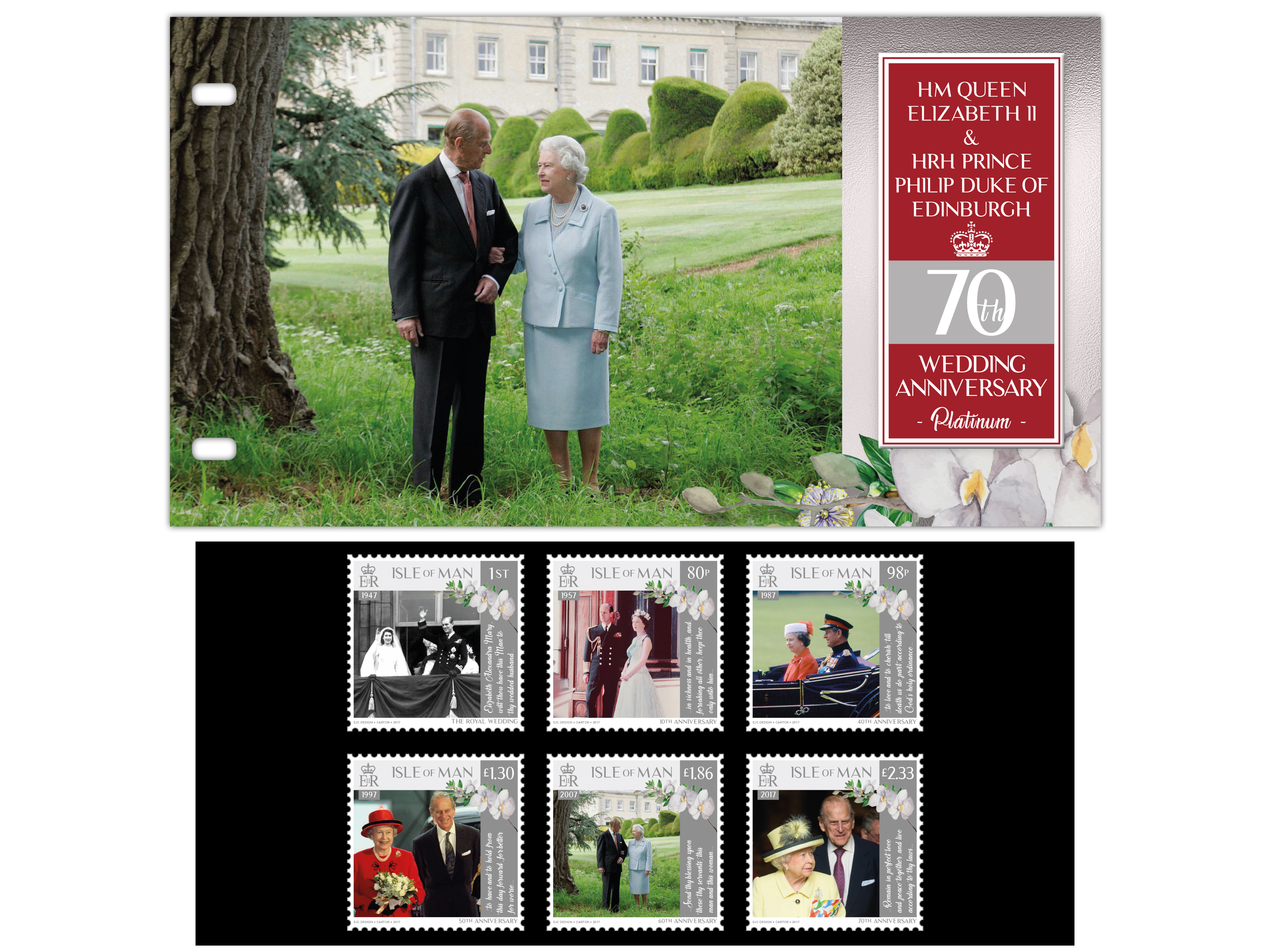 Isle Of Man Post Office Commemorates Hm Queen And Hrh Prince
