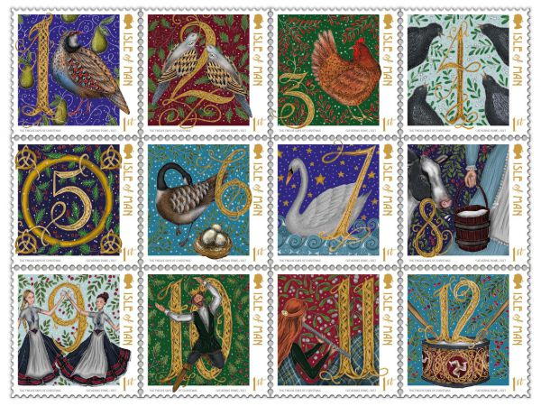 Isle of man post office unveils christmas stamps for 2017 for Post office design your own stamps