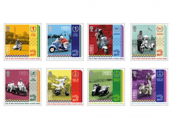 Isle of Man Scooter Rally Stamp Collection