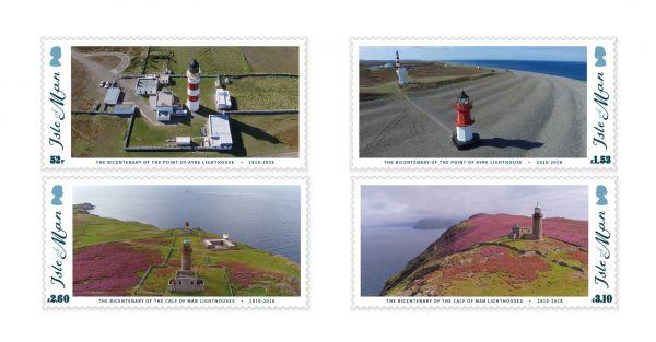 马恩岛10月18日发行马恩岛灯塔200年邮票