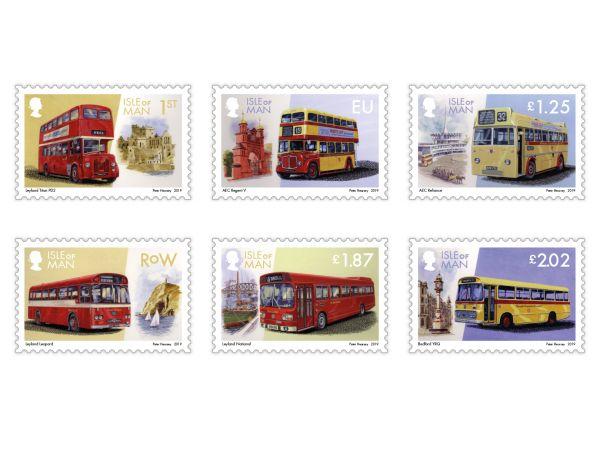 马恩岛1月29日发行马恩岛公共汽车(3)邮票