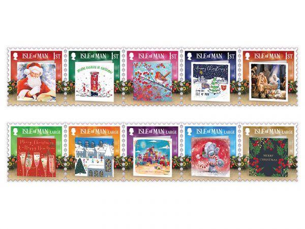 马恩岛10月28日发行圣诞贺卡-圣诞精神邮票
