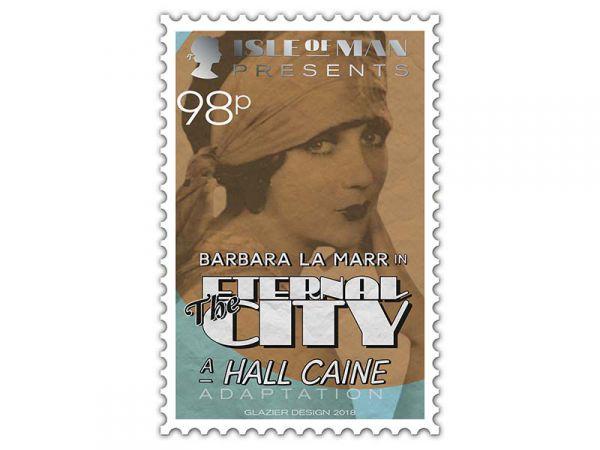 Hall Caine stamp_98p_Barbara La Marr