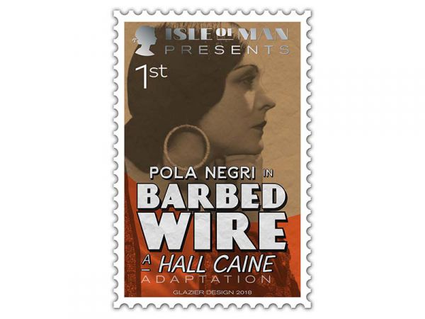 Hall Caine stamp_First class_ Pola Negri