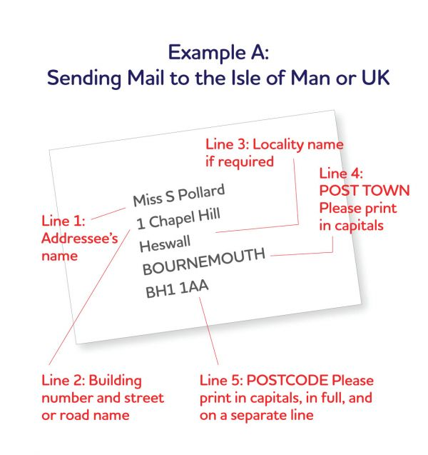 Preparing your mail isle of man post office sending mail to the isle of man or uk spiritdancerdesigns Image collections