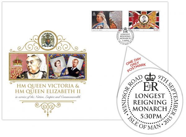 Longest Reigning Monarch Postmark Cover – 5.30pm Windsor Road Post Office
