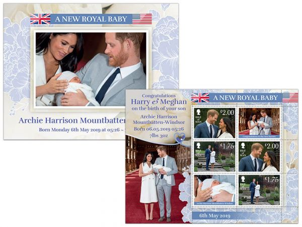 a new royal baby archie harrison sheetlet isle of man post office a new royal baby archie harrison