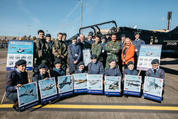 RAF Valley pilots with IOM Air Cadets