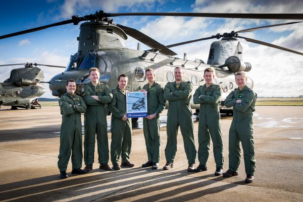 2018 Chinook Display team at RAF Odiham