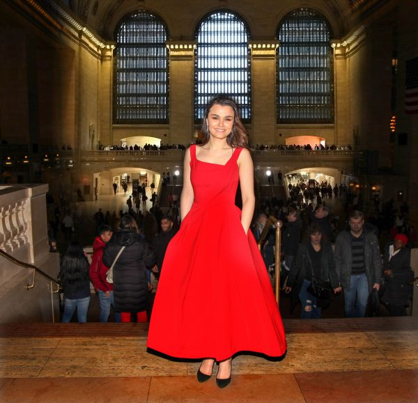 Sam Barks wearing the Finella dress in New York