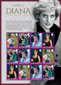 The Diana Stamps - A postal tribute to Diana, Princess of Wales by The Isle of Man Post Office and Arthur Edwards MBE