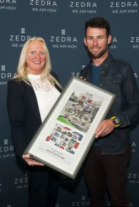 Presentation of framed stamps to Mark Cavendish MBE on Friday