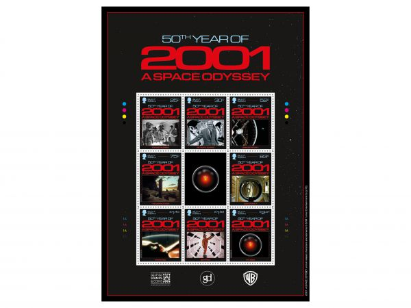 2001: A Space Odyssey Commemorative Sheetlet
