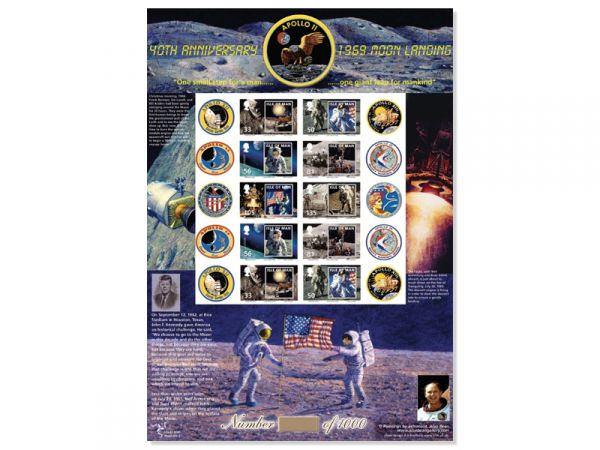 Moon Landing 1969-2009 Limited Edition Stamp Sheet