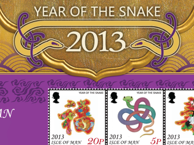 Chinese Year of the Snake celebrated with miniature stamp sheet & sheetlet
