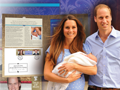 Isle of Man's stamp of approval for the arrival of HRH Prince George of Cambridge