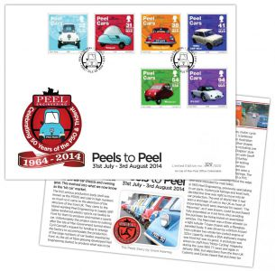 Isle of Man Stamps & Coins launches limited edition postmark cover to mark 50 years of Peel Cars