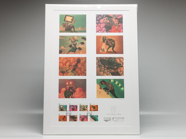 Island of Culture Mounted, Signed Limited Edition Postcard and Stamp Set
