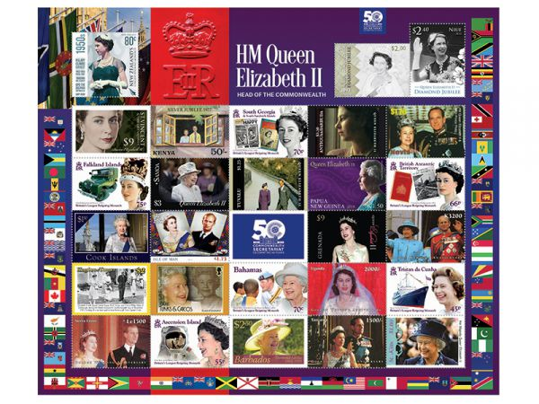 The 50th Anniversary Commonwealth Secretariat Sheet & Stamps