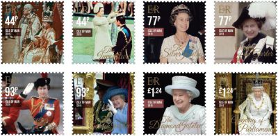 New Isle of Man stamps display the Queen in all her Pomp and Circumstance