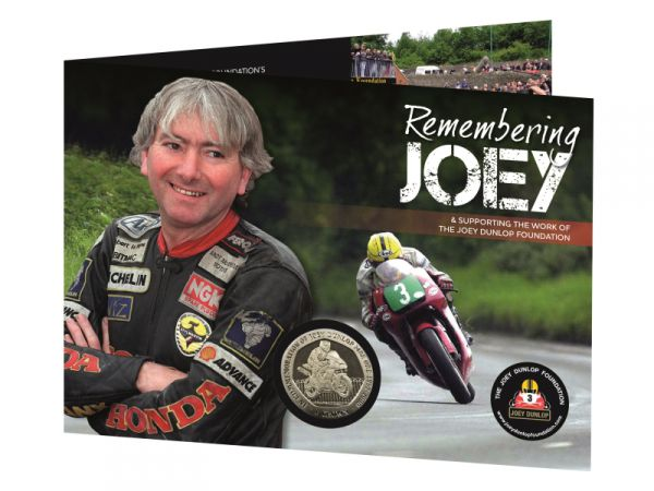 2001 Joey Dunlop Crown (Black Motorbike) Cupro Nickel