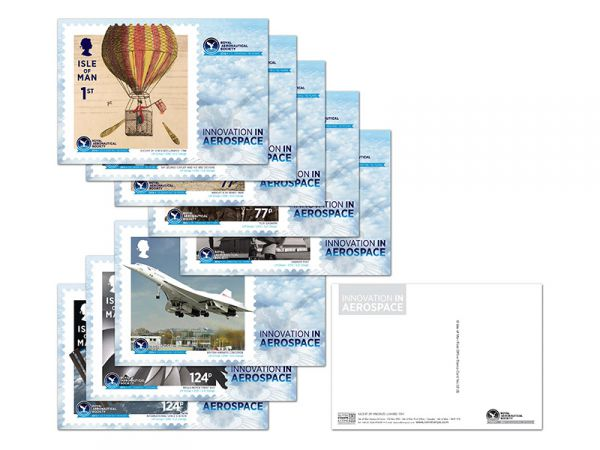 Royal Aeronautical Society 150th Anniversary Stampcards and Maxicards