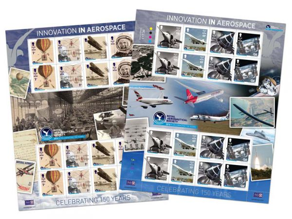 Royal Aeronautical Society 150th Anniversary Sheet Set