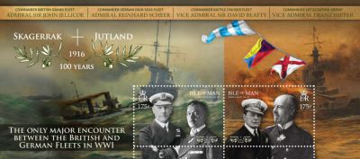 Miniature sheet commemorates centenary of The Battle of Jutland