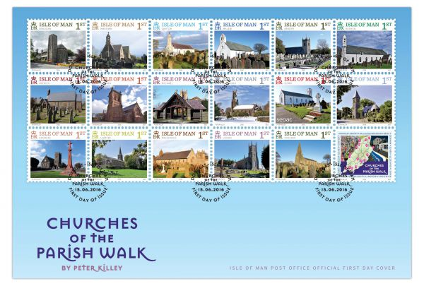 Churches of the Parish Walk First Day Cover