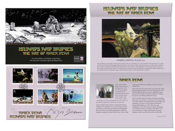 Roger Dean Limited Edition Signed First Day Cover