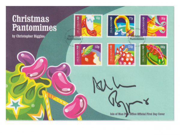 Christmas Pantomimes First Day Cover signed by Christopher Biggins