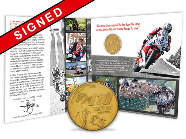 Signed John McGuinness Limited Edition TT 2017 £5 Gift Pack