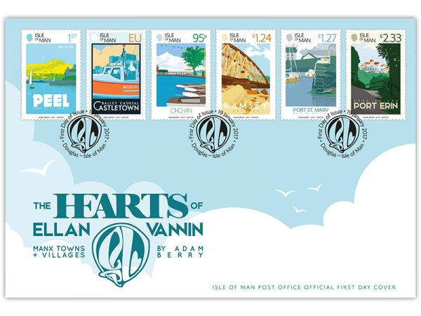 The Hearts of Ellan Vannin First Day Cover