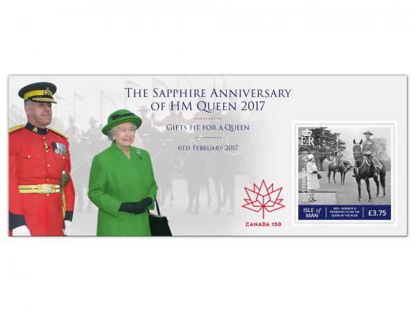 Canada 150 Gifts Fit For a Queen Miniature Sheet Overprint