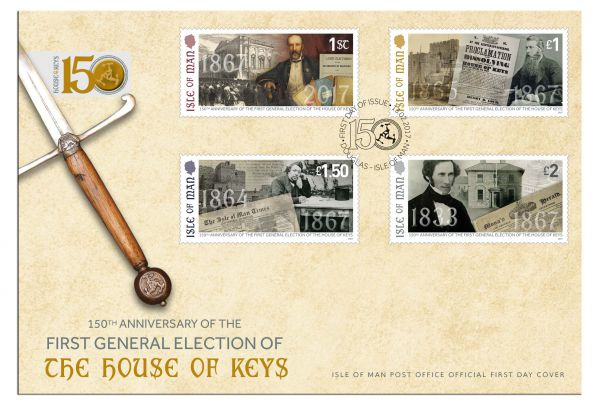 150th Anniversary of the First Open House of Keys Election First Day Cover
