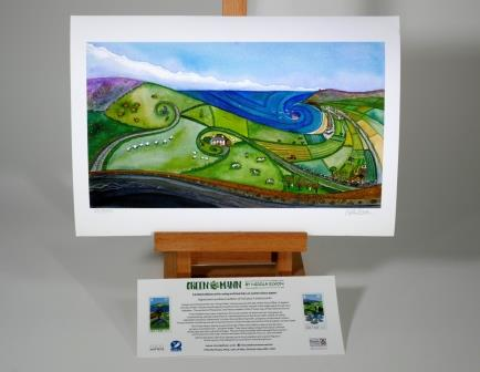 Limited Edition Triskel Landscape Print signed by Nicola Dixon