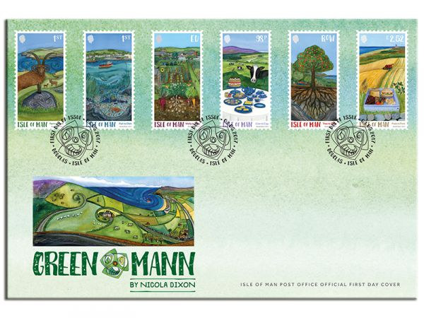 Green Mann by Nicola Dixon First Day Cover