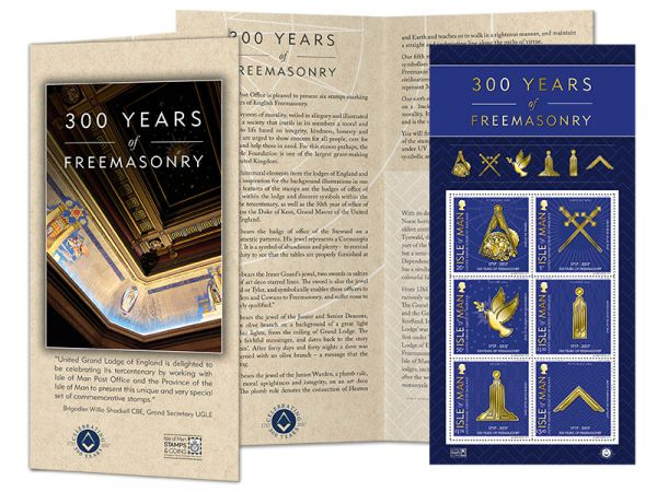 300 Years of Freemasonry Sheetlet