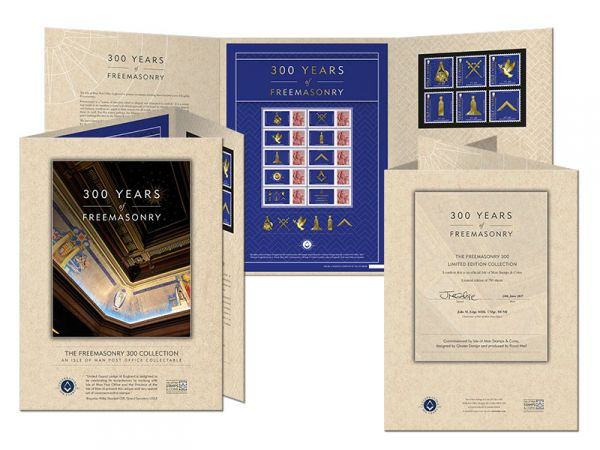 300 Years of Freemasonry Customised Sheet and Folder
