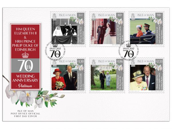 HM Queen & HRH Prince Philip Platinum Anniversary First Day Cover