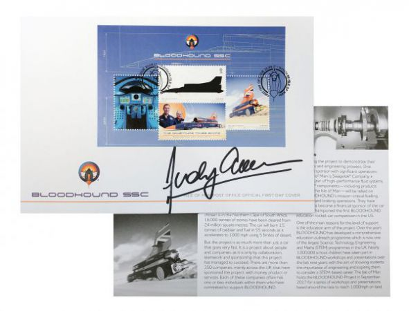 BLOODHOUND SSC First Day Cover Signed by Wing Commander Andy Green