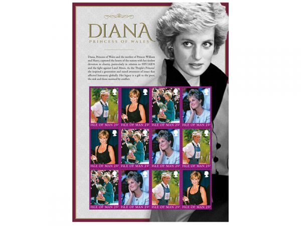 Diana, Princess of Wales Commemorative Sheetlet and Folder