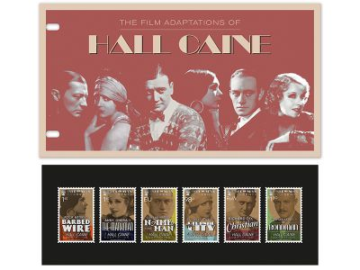 ISLE OF MAN POST OFFICE CELEBRATES 90 YEARS OF THE OSCARS AND 'TALKIES' WITH STAR STUDDED STAMPS